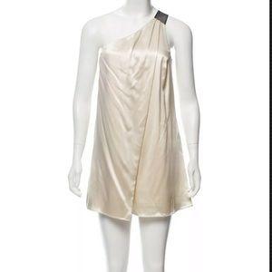 Alexander Wang One Shoulder 100% Silk Dress Size 6